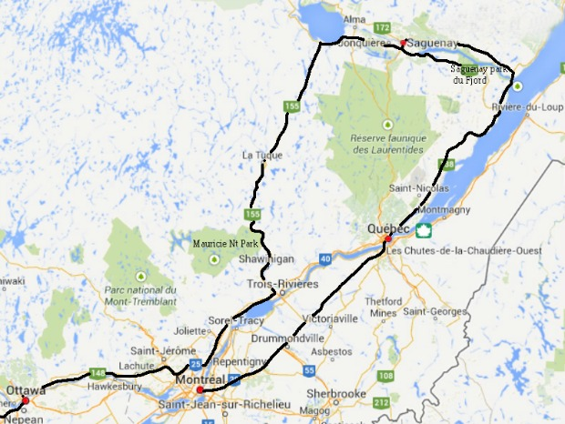Saguenay Route