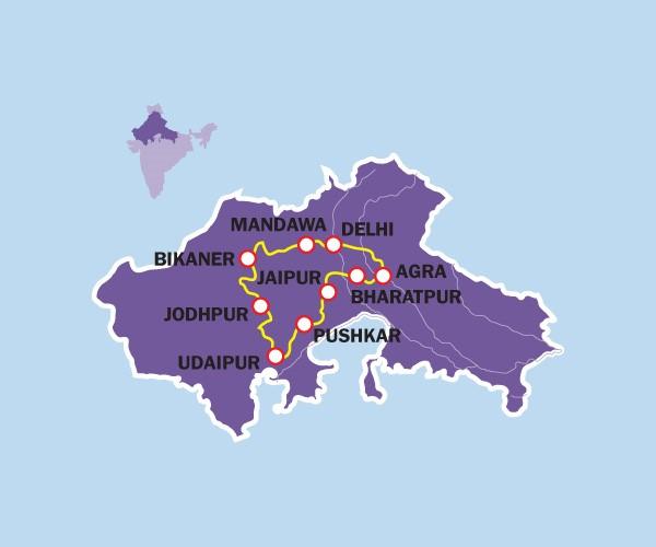 Reisroute India
