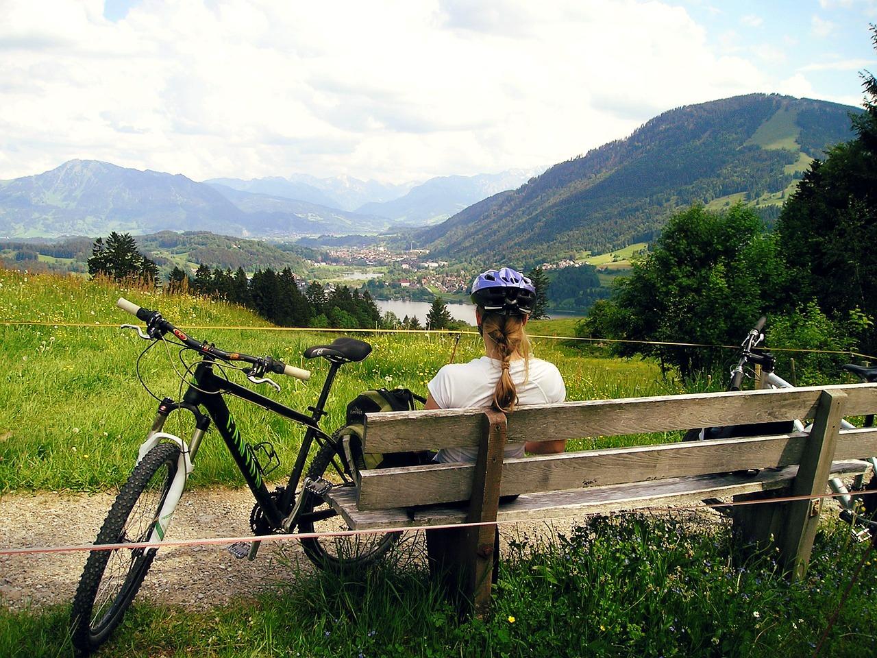 Genieten van het uitzicht tijdens de fietsvakantie