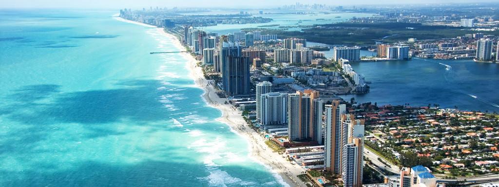 het strand van Miami tijdens een USA road trip