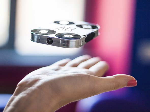 een selfie maken met drone