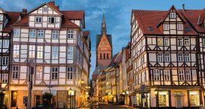 de stad Hannover in Duitsland