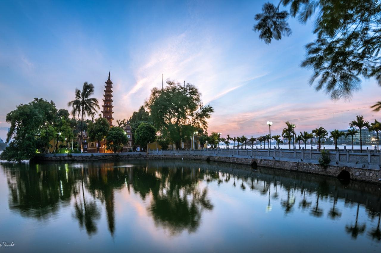 landschap in hanoi