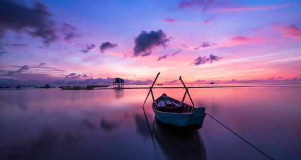 zonsondergang in Vietnam