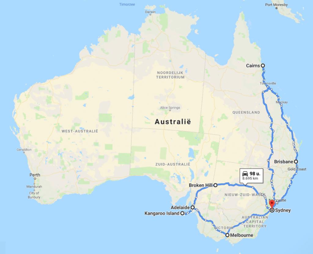 reisroute-australis
