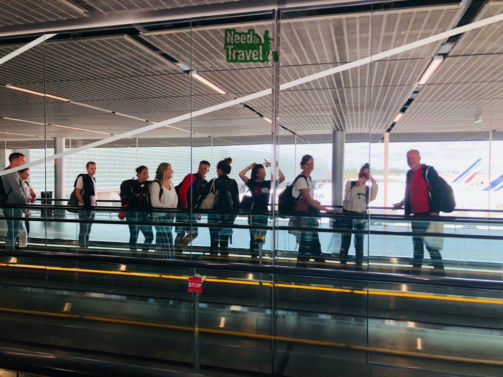 georganiseerde groepsreizen vliegveld